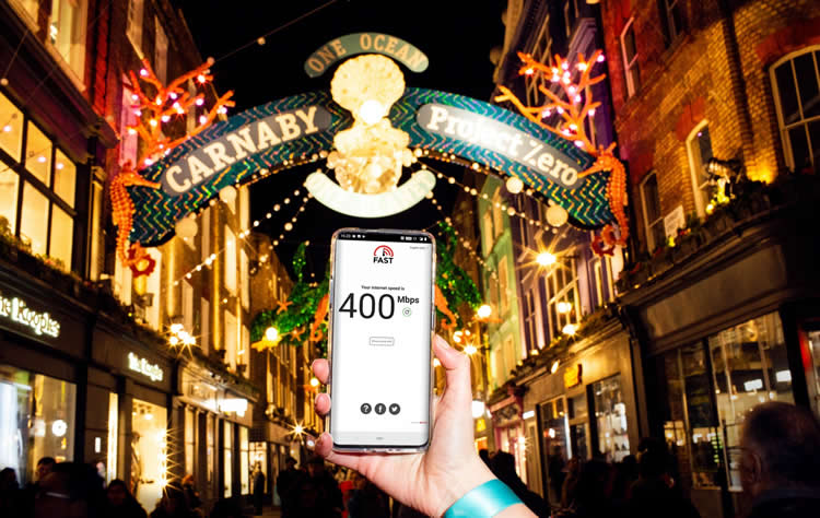 EE 5G coverage carnaby street