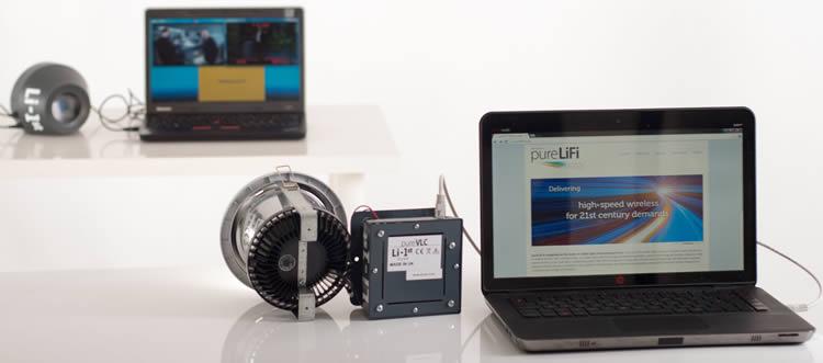 اختبارات Li-Fi underoging