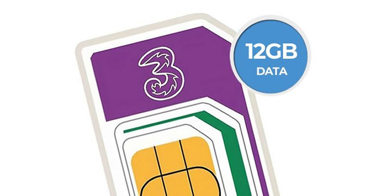 Get 12gb Of 5g Data On Three For 8 Only