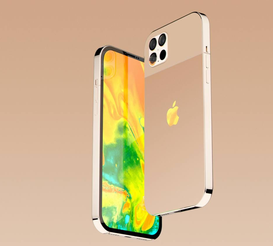 iphone 12 gold concept