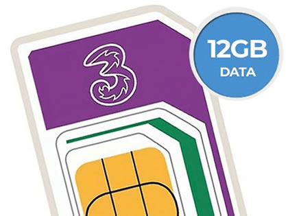 Get 12GB of 5G data on Three for just £8
