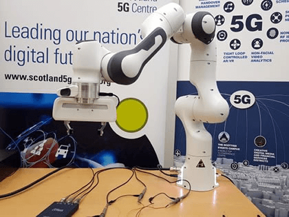 University of Glasgow completes successful 5G robot experiment